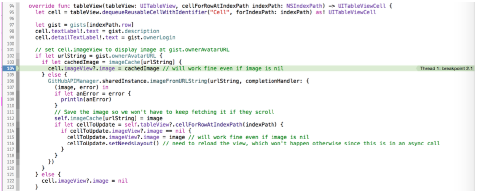 IOS Apps with REST APIs (6) -- Picture loading and caching using