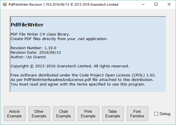 Pdf File Writer Chinese Application (PDF File Writer Class C