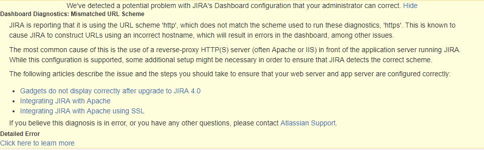 JIRA reverse proxy Nginx(Mismatched URL Scheme) solution
