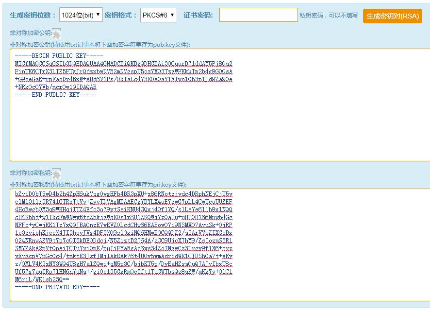 RSA Asymmetric Encrypted Transport - Front End Encryption